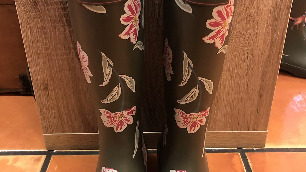 Brakeburn Flower Welly size 4