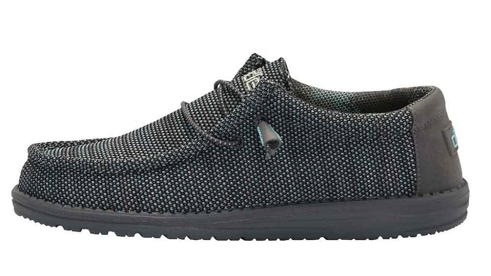 MENS HEY DUDE WALLY SOX ASPHALT AZUR