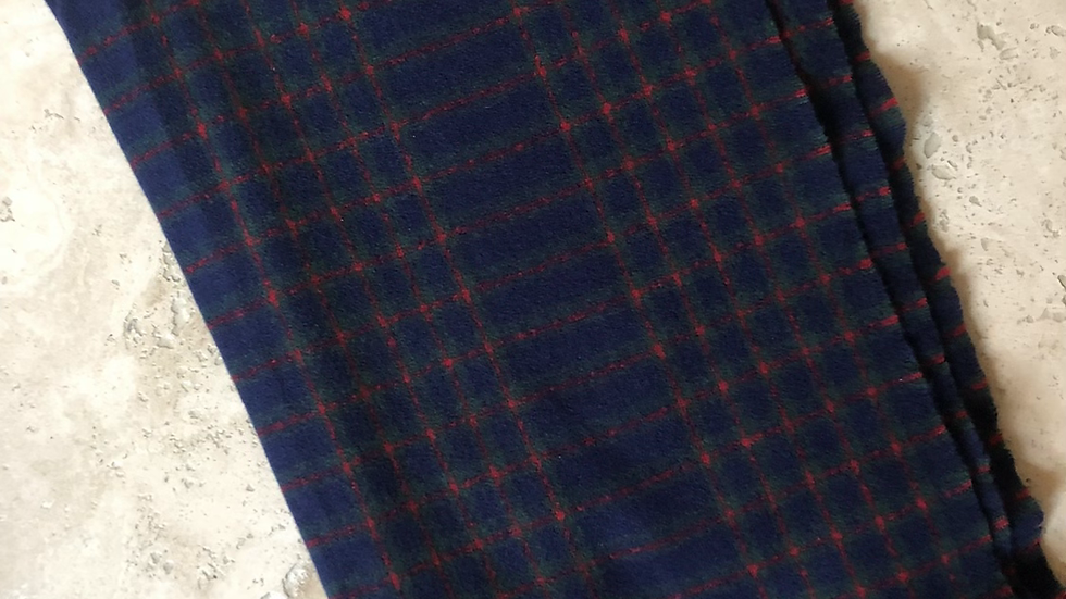 MSH Navy and Red Check Scarf