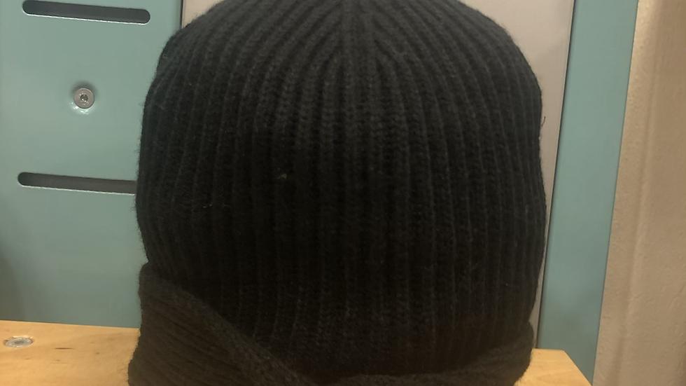 Ladies black beanie