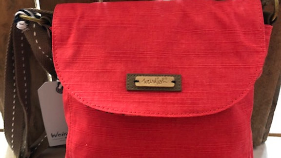 WEIRDFISH CROSS BODY BAG RED