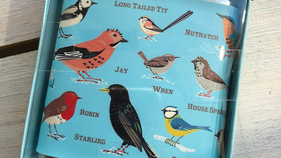 REX GARDEN BIRDS HIP FLASK