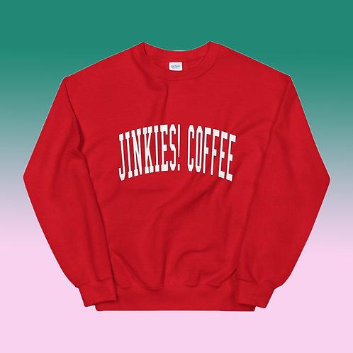 Red Jinkies! Coffee Cozy Crewneck