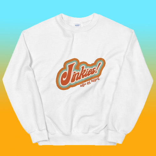 White Signature Jinkies! Logo Crewneck