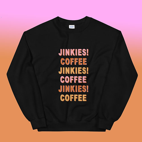 Black  Jinkies! Crewneck