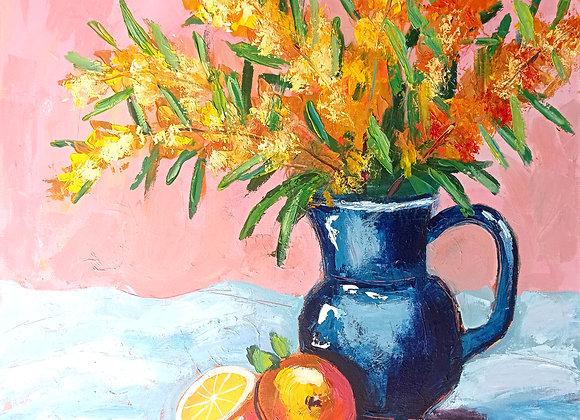 Golden Wattle and oranges #2