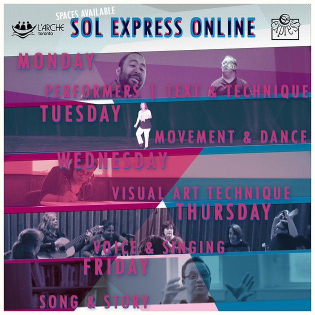 Sol Express Text Technique, Movement, Dance, Visual Art, Voice Singing, Song Story