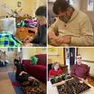 Photos of community members engaging in various activities