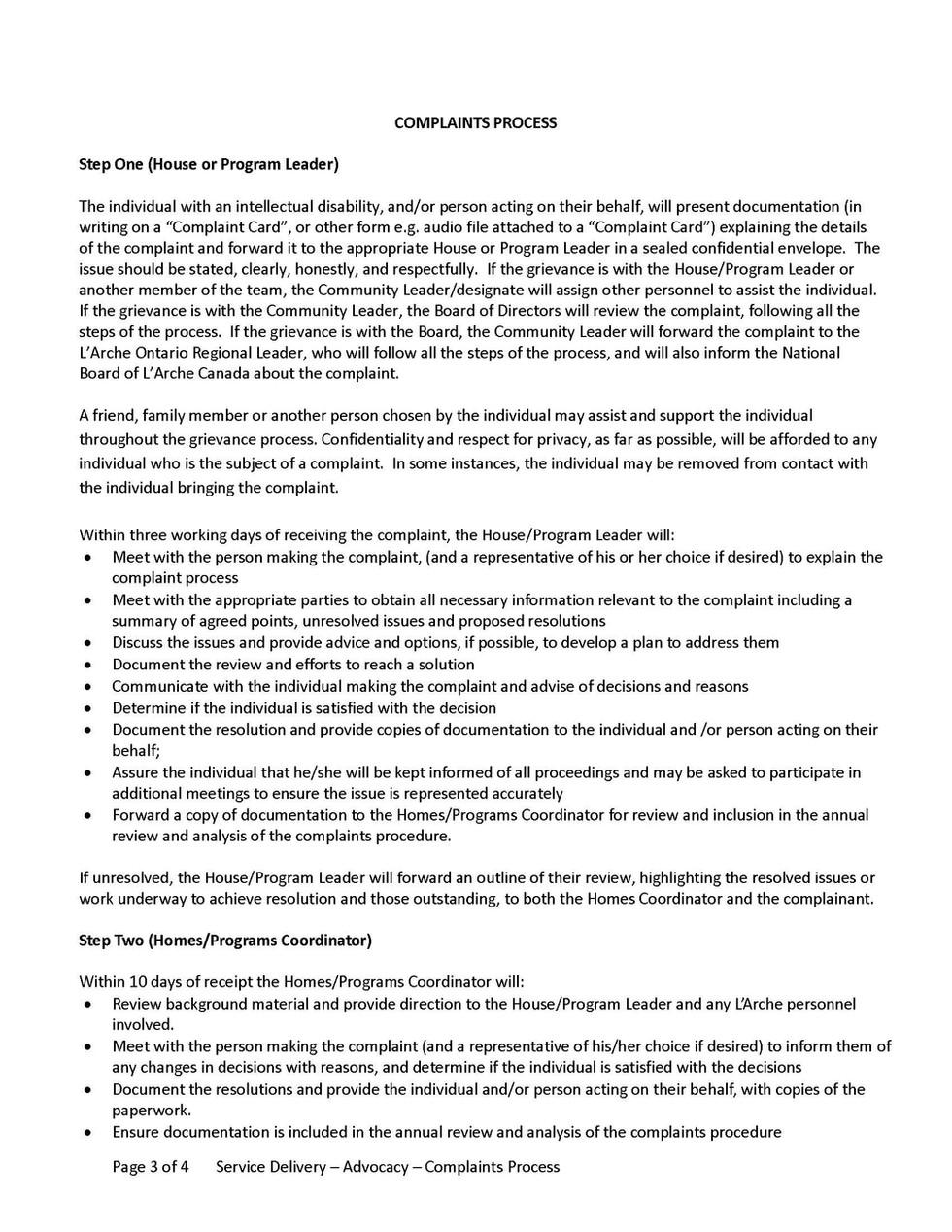 B1 - Advocacy  - Complaints Process_Page