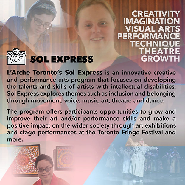People taking part in Sol Express, Creativity, Imagination, Visual Art, Performance, Theater, Growth