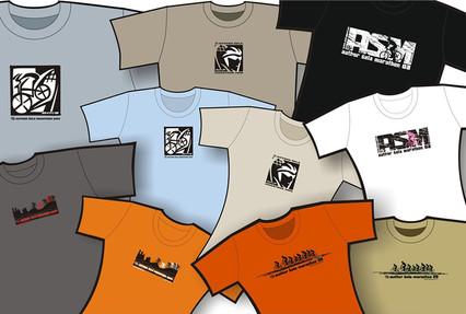 Author Šela Marathon - design pamětních triček bikového marathonu. Následná sériová výroba technologii sítotisku.