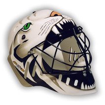 Florbalová helma se zvířecím motivem