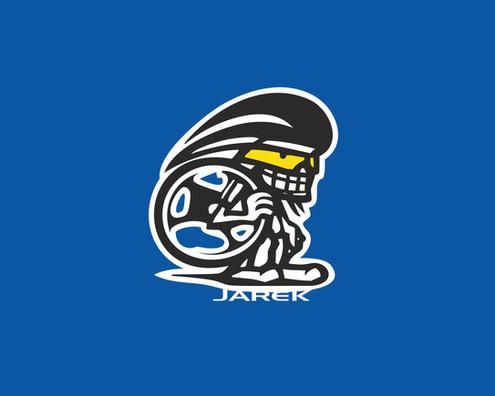 Osobní logo Jarka Janiše - automobilového závodníka