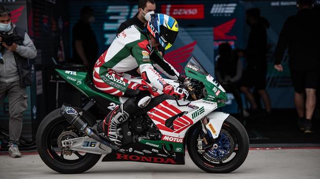Grafický návrh a nastříkání motocyklu Honda do seriálu WorldSBK