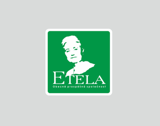 Logo Etela - obecně prospěšná společnost, který se zaměřuje na pomoc dětem a mladistvým se zdravotním nebo sociálním hendikepem