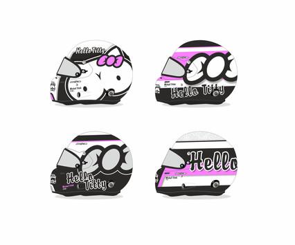 Hello Titty - grafické návrhy a kresba technikou airbrush helmy zn. Stilo