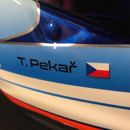 Redesign závodní helmy Arai pilota Tomáše Pekaře