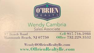 Wendy Cambria, O'Brien Realty