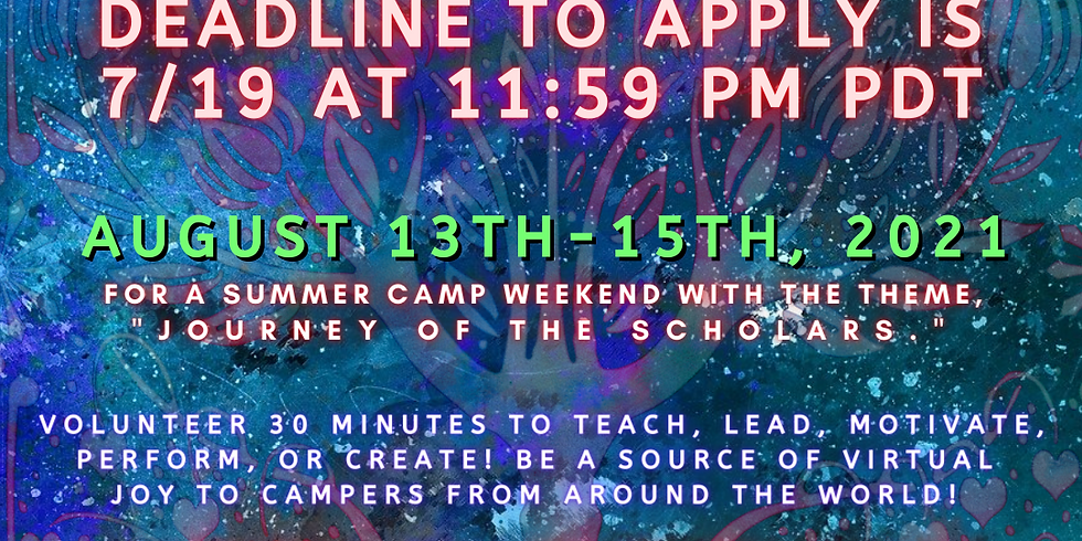 Join Us As a GCC for our August Camp Weekend!