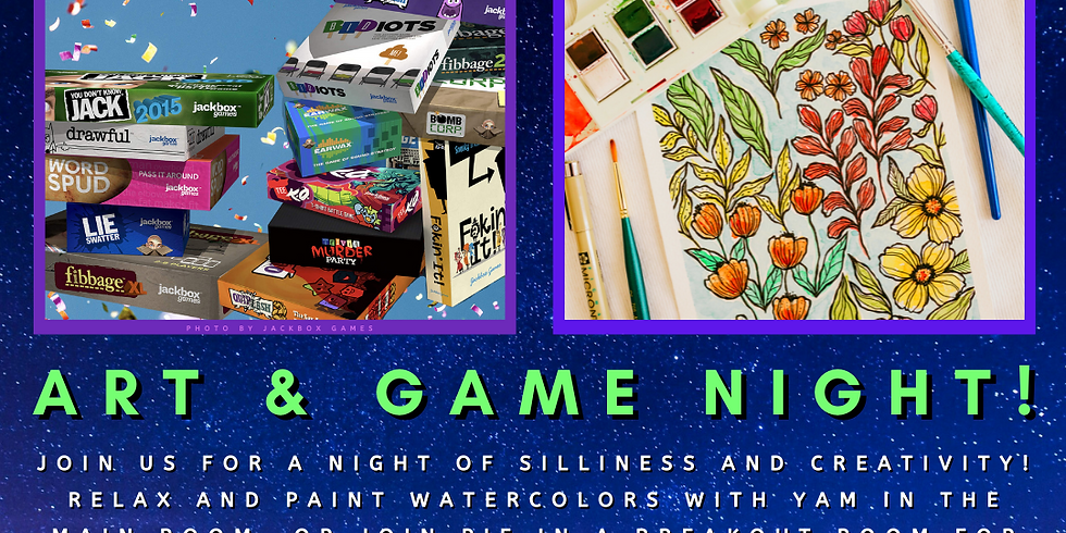 Camp Yampire: Art & Game Night!