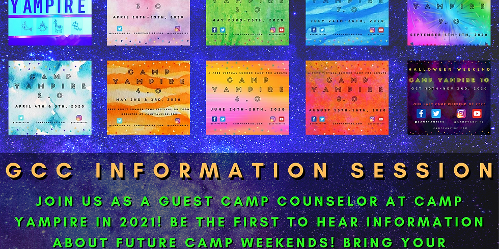 Camp Yampire: GCC Information Session
