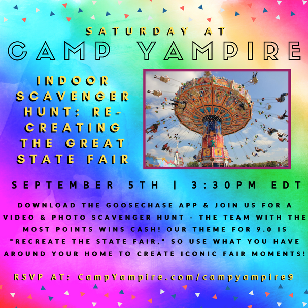 Saturday, September 5th at 3:30PM EDT: