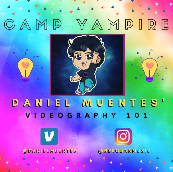 Join returning Guest Camp Counselor Daniel and musical genius, aka Neko-Dan, as he switches a musical instrument for one of a camera variety to teach the basics of videography -  light, sound, angles, simple edits, and more! Whether you plan to join with a professional camera or your cell phone, Daniel is here for you!  MATERIALS NEEDED: A video camera and/or your phone