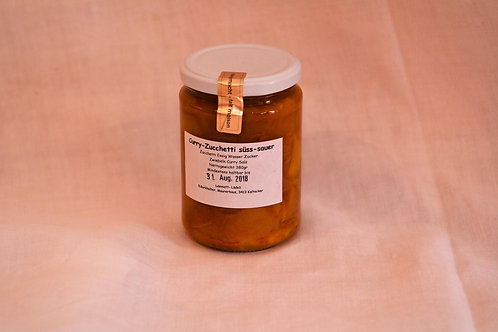 Curry Zucchetti süss sauer