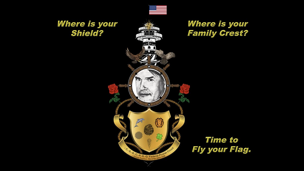 Federal-Postal-Court-Shield & Flags, Symbols and Crests.