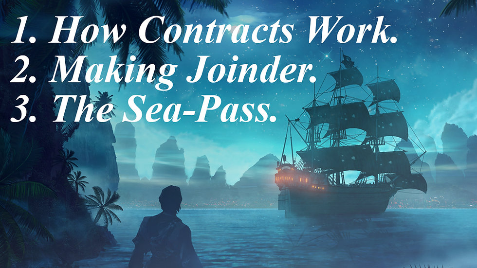 8.) How Contracts Work // Making Joinder with Official Documents // The Sea-Pass
