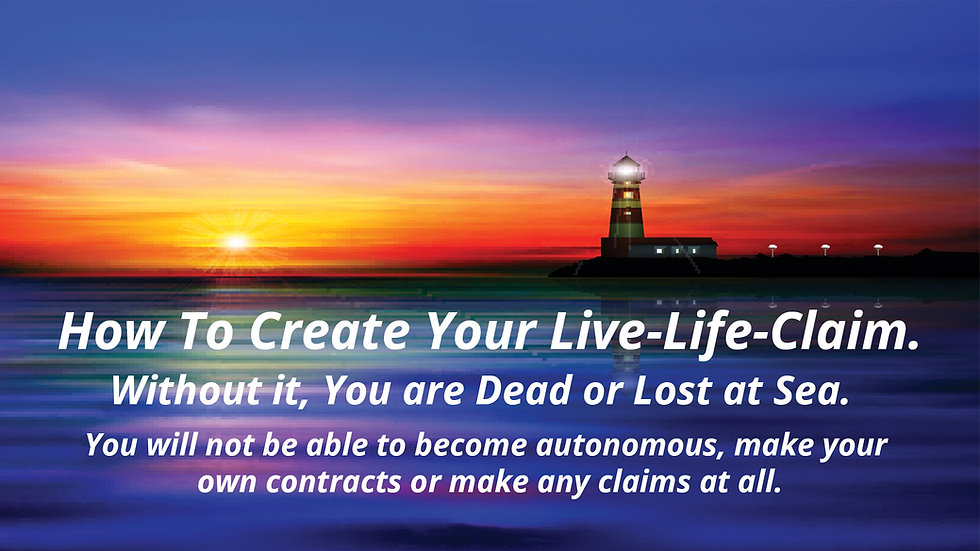 1.) Create Your Own Live-Life-Claim & Step-By-Step Walkthrough.