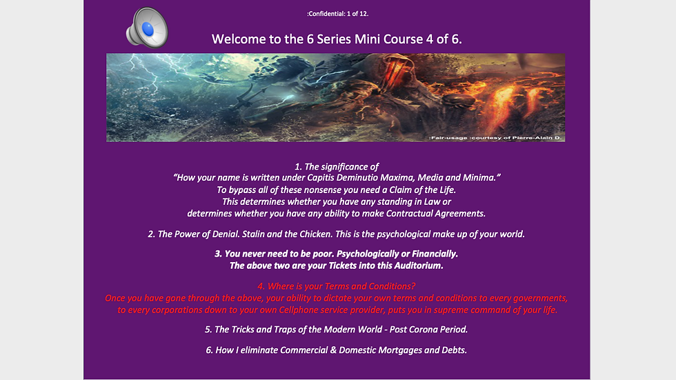 6 Series Mini Course 4 of 6 - Where is your Terms and Conditions?