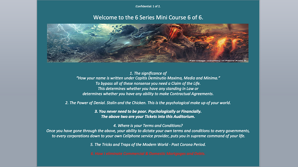 6 Series Mini Course 6 of 6 - How I Eliminate Mortgages and Debts.