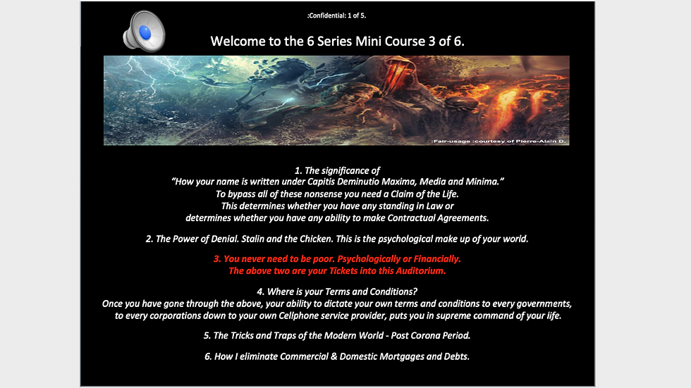 6 Series Mini Course 3 of 6 - You never need to be Poor.