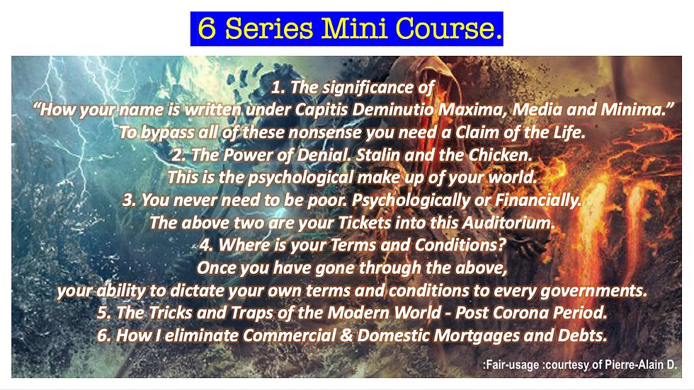 6 Series Mini Course.