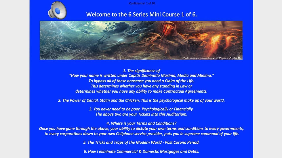 6 Series Mini Course 1 of 6 - Must Watch or you are Lost and Dead.