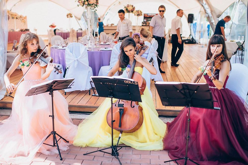 Музыка на свадьбу - струнное трио Violin Group DOLLS