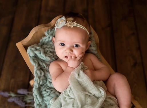 Elsie 3 Month Session | Charlottesville Newborn Photographer