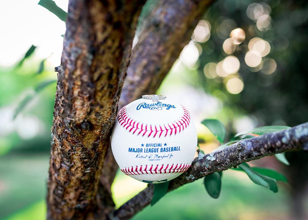 Baseball Inspired Ring Shots | Virginia Wedding Photographer