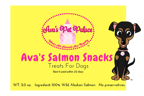 Ava's Salmon Snacks For Dogs 2 oz.