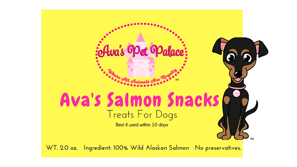 Ava's Salmon Snacks For Dogs 4 oz.