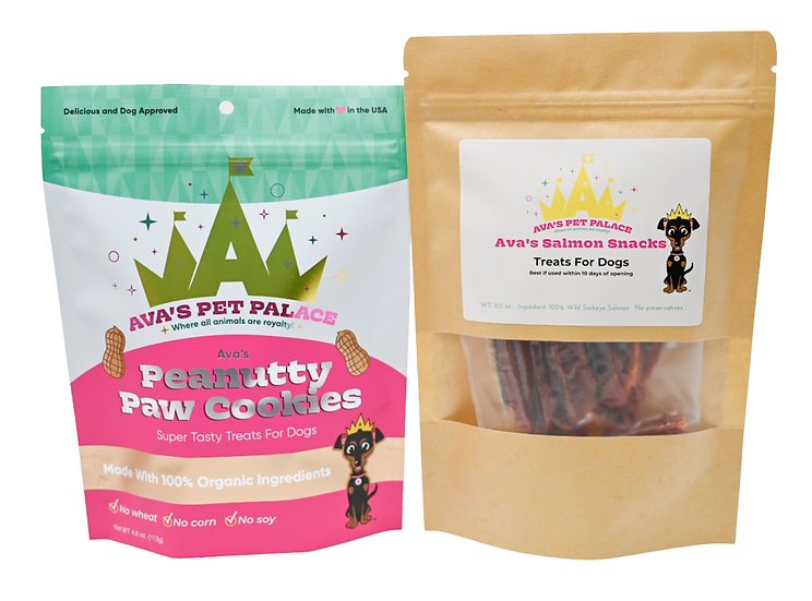 Peanutty Paw Cookies + Salmon Snacks for Dogs!