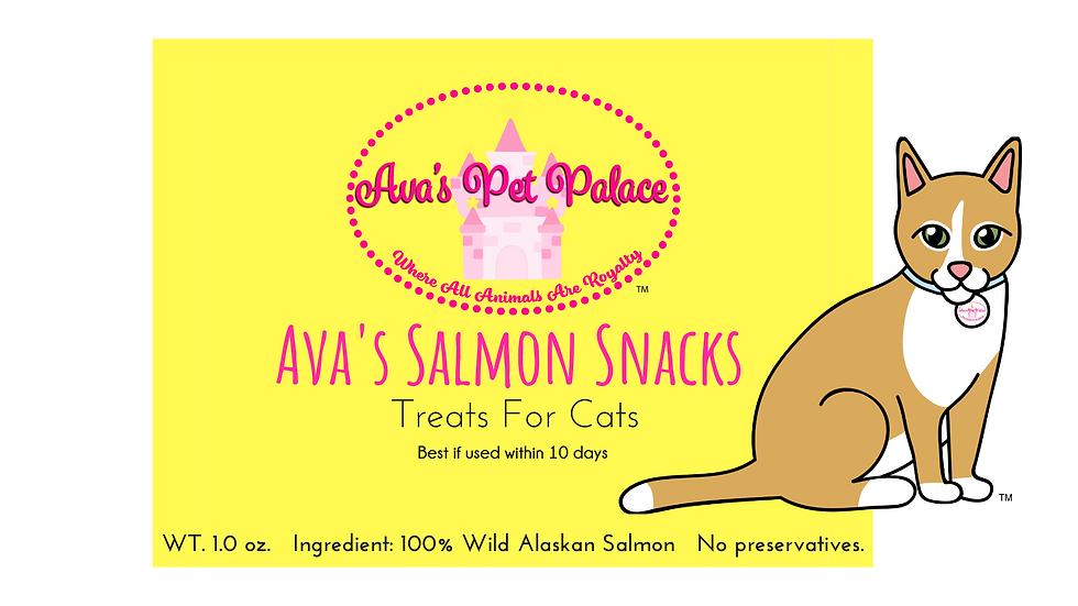 Ava's Salmon Snacks For Cats 1 oz.