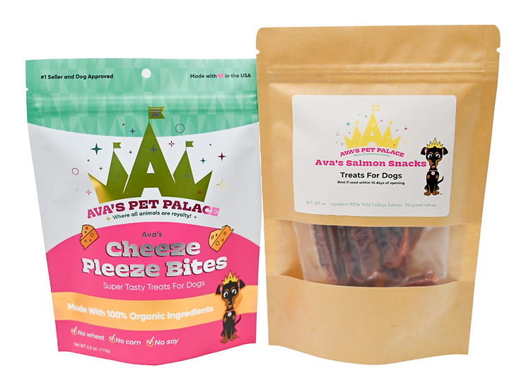 Cheeze Pleeze Bites + Salmon Snacks for Dogs!