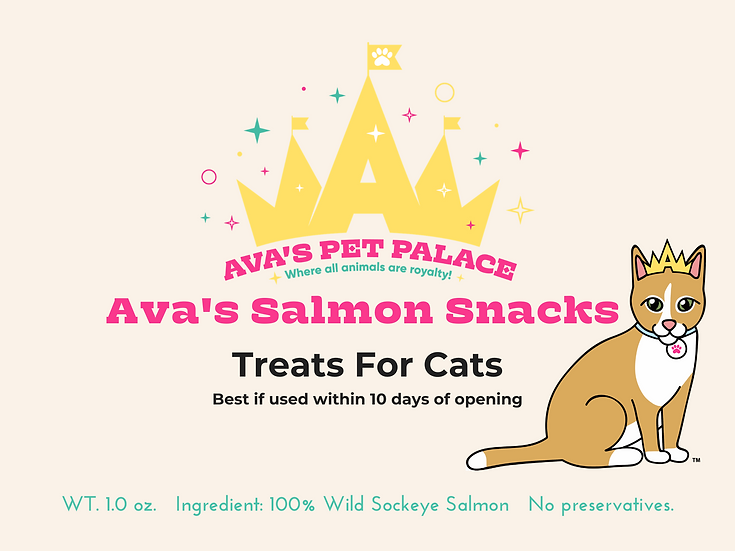 Ava's Salmon Snacks For Cats