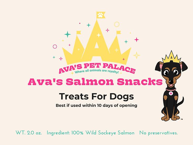 Ava's Salmon Snacks For Dogs