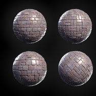Tilable materials made in Substance Designer