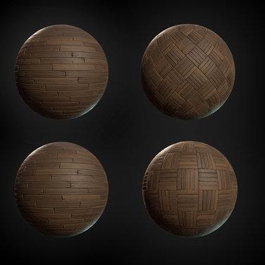 Tilable materials made in Substance Designer