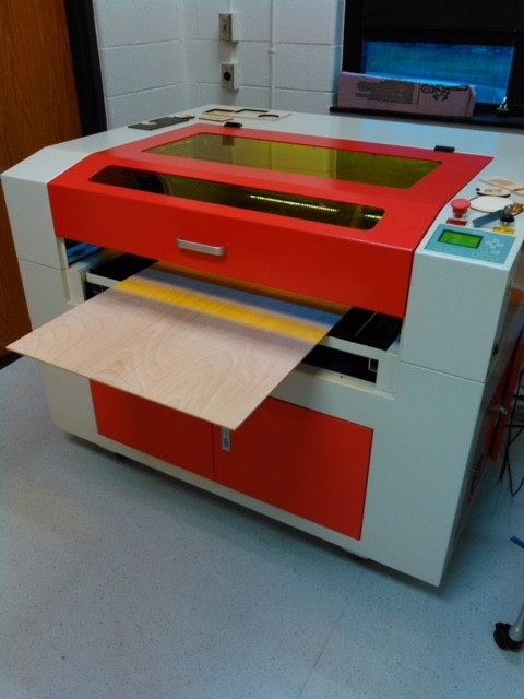 Laser cutter at the IDEA Lab at Zanes State College