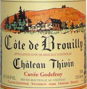 Le Brouilly de Château Thivin